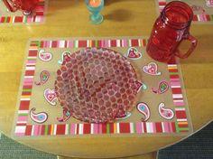 Valentines table decor