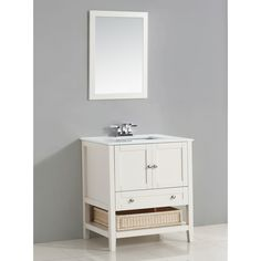 """Simpli Home Cape Cod 31"""" Single Bathroom Vanity Set"""