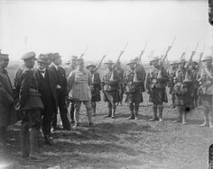 M. Clemenceau inspecting 33rd Division at Cassel, 21 April 1918.