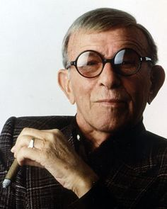 George Burns-What a sweet man. An American comedian, actor, and writer. He was one of the few entertainers whose career successfully spanned vaudeville, film, radio, and television.