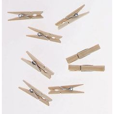 """96 ~ Craft Wood CLOTHESPINS ~ Spring Clip ~ 1-7/8"""" long"""