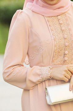 Dilbeste Dantel Elbise - Pudra