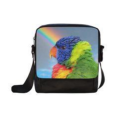 Rainbow Lorikeet Crossbody Nylon Bag. FREE Shipping. #artsadd #bags #parrots