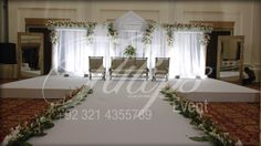 Best Pakistani Wedding Walima Stages Decoration ideas and planner in Lahore.  For more: www.tulipsevent.com
