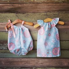 Bubble Romper Sunsuit summer Outfit Spring baby by ShelbyJaneandCo