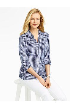 a5494ab782 Gingham Checks Linen Shirt Linen Shop