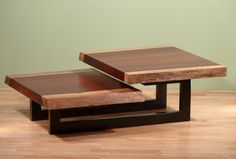 Custom Made Two-Tier Coffee Table Welded Furniture, Iron Furniture, Steel Furniture, Woodworking Furniture, Home Decor Furniture, Table Furniture, Furniture Design, Studio Furniture, Tea Table Design