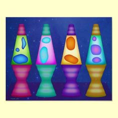 lava lamps poster ~ for groovy goofy hippy chix!