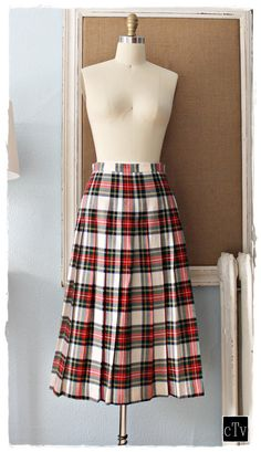 Classic Vtg 80's Scottish Tartan BROOKS by closiTherapivinTage, $74.00