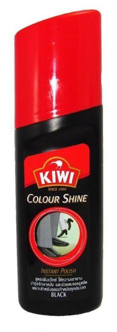 KIWI Shine Instant Liquid Polish Black 40ml Shoe Wax Leather 40ml free shipping #Kiwi