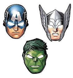 8 x Avengers Birthday Party Masks Boys Decoration Supplies