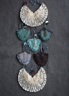 Tinctory. Smocked textile jewelry hand-made from naturally dyed silk.