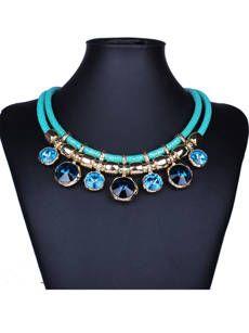 Faux Crystal Multicolor Necklace