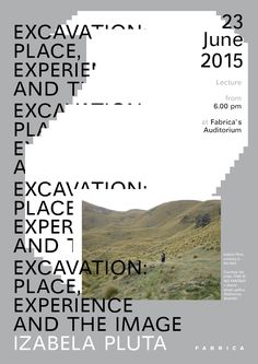 Excavation - CANCAN - Tomomi Maezawa - A poster for the lecture by Izabela Pluta at Fabrica