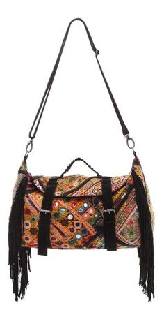 FREE SHIPPING at shopbop.com. Ophelia Moon , selected for Shopbop's ONE by collection for its unique textiles and bohemian attitude. ONE by is home to exceptional pieces from established and emerging designers. The duffle bag gets a colorful update in embroidered cotton with mirrored accents. Suede fringe and trim complete the free-spirited aesthetic. A zip opens to the lined interior with 2 patch pockets and 1 zip pocket. Short, pleated handle and optional, adjustable shoulder strap. Lined…