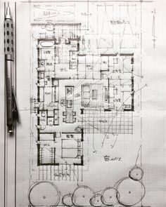 Mb ve tay Architecture Concept Drawings, Japan Architecture, Architecture Sketchbook, Floor Plan Sketch, Floor Plan Layout, Hotel Floor Plan, House Floor Plans, Sketches Arquitectura, Architectural Floor Plans