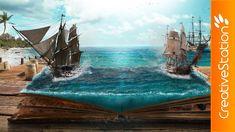 Legends of the Pirates - Speed art (#Photoshop) | CreativeStation
