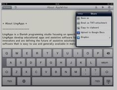 AppWriter - ipad app for communication