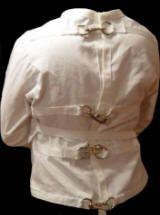 White Canvas / Cloth Straight Jacket, Restraint, Small / Medium ...