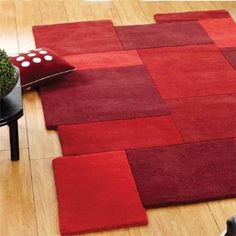 Abstract Collage Red Rug - £79 | brandinteriors.co.uk