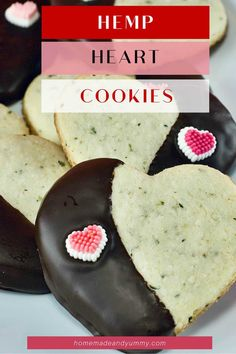 Hemp Heart Cookies perfect for Valentine's Day. Gluten-free cookies made with hemp seeds. #hempcookies #hempseeds #hemphearts #glutenfree #Valentinetreat Gluten Free Cookies, Gluten Free Desserts, Easy Desserts, Delicious Desserts, Vegetarian Desserts, Real Food Recipes, Cookie Recipes, Dessert Recipes, Bakery Recipes