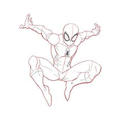 3 Ways to Draw Spiderman - Spiderman Sketches, Spiderman Drawing, Drawing Superheroes, Marvel Drawings, Spiderman Art, How To Draw Spiderman, Cool Art Drawings, Kawaii Drawings, Drawing Sketches