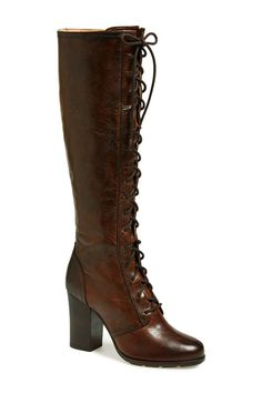35 Brown Boots That Are Anything But Boring #refinery29  http://www.refinery29.com/brown-boots#slide26  Knee-High Heeled Boot Lace your boots up high.