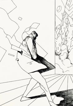 Rune Fisker - The Incident, Ink on paper