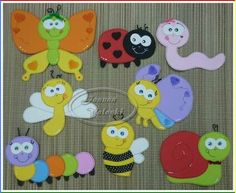 Insect Activities, Art Activities, Kindergarten, Circle Crafts, Crafts For Kids, Arts And Crafts, Foam Crafts, Felt Toys, Cute Cards
