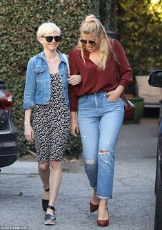 Girl time! Michelle Williams spent some quality time with BFF Busy Philipps in Beverly Hi...
