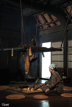 Interior of traditional Japanese farmhouse. Photography by yumi on Flickr. Source: Flickr / bagdadcafe.