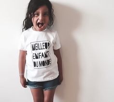 Best Child in the World Tee ! Ships Worldwide from Canada :) Ships, Canada, T Shirts For Women, Tees, Fashion, Bonjour, Moda, Boats, T Shirts