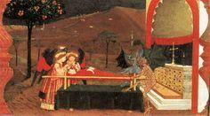 Miracle de le desecrated Hôte ( Scène 6 ), lambris de Paolo Uccello (1397-1475, Italy)