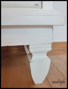Painted & Stained Dressers  DIY::Step by Step on painting old dressers, staining the tops, and even adding feet !