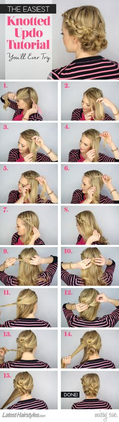The Easiest Knotted Updo Tutorial You'll Ever Try