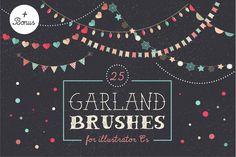 Check out Holidays Garland Brushes set + bonus by Marish #brushes