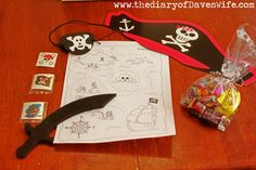 DIY Pirates Favor Bags.