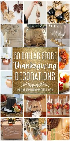 Decorate for Thanksgiving on a budget with these DIY dollar store thanksgiving decor ideas. From thanksgiving centerpieces to DIY thanksgiving wreaths, there are plenty of DIY thanksgiving decorations to choose from. There are thanksgiving decor ideas for the whole home including indoor and outdoor thanksgiving decorations that can be made with dollar tree supplies. Outdoor Thanksgiving, Thanksgiving Tree, Thanksgiving Celebration, Thanksgiving Traditions, Thanksgiving Centerpieces, Thanksgiving Parties, Thanksgiving Projects, Dollar Store Crafts, Dollar Stores