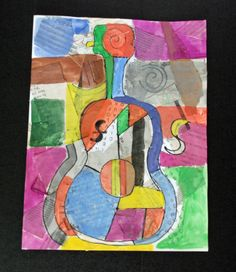 "This is a good project to introduce students to both the work of Picasso and collage . This is ""The Old Guitarist"" by Picasso, Picasso Collage, Picasso Art, Collage Art, Pablo Picasso, Picasso Style, Collages, 7th Grade Art, Third Grade, Ecole Art"