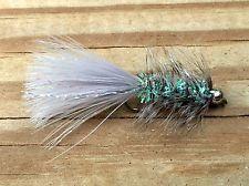 Fly Fishing Flies (Bass, Bream, Trout, Salmon) Beadhead Crystal Bugger Grey (6)