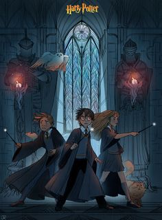 """julierouviere:      Thank you for your support !     A little fan art of """"Harry Potter"""" !!!      (via metalheavyconquistador)"""
