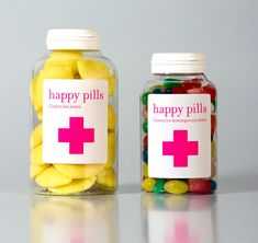 """Not sure packaging candy as a """"pill"""" is such a great idea but I like the bottle and the bright pink label"""