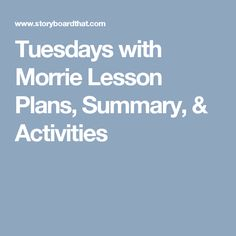a summary and analysis of tuesdays with morrie by mitch albom In mitch albom's tuesdays with morrie, the author shows us that not everyone is going to live a long happy life and this is evident as morrie is faced with a fatal disease also known as als he knows that he is going to die soon and wants to share his view of life with everyone before it's too late.