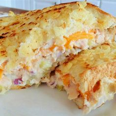 "Mary Pat's Tuna Melt | ""This sandwich gets a crunchy finish with chips embedded into the bread."""