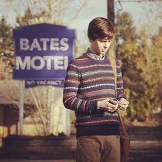 Here's another first day picture. He just looks so cute! #bates #motel