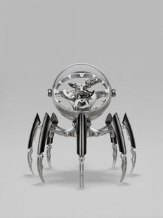 Luxury Design: Meet the Limited Edition Octopod Table Clock by MB&F ⇒ Best Known for transforming traditional watchmaking techniques into futuristic Marine Chronometer, Retro Vintage, Carriage Clocks, Magical Jewelry, Trends, Cool Watches, Wrist Watches, Modern Jewelry, Luxury Watches