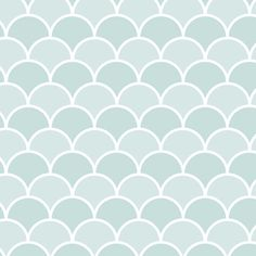 Mist Scallops contact paper / shelf liner. This scallop pattern features shades of light turquoise blue and light blue gray.