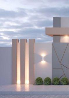 House Fence Design, Modern Fence Design, Gate Design, Facade Design, Modern House Design, Exterior Design, House Outer Design, Small House Design, Boundry Wall