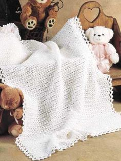 Fast, Easy Crocheted Baby Blanket -- Free Crochet Pattern.