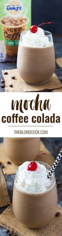 When you can't decide between coffee and cocktails... choose both! Check out the simple step by step directions for this delightful Mocha Coffee Colada recipe!